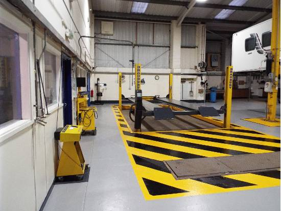 North East Motorhome Repair Centre Ltd garage interiors