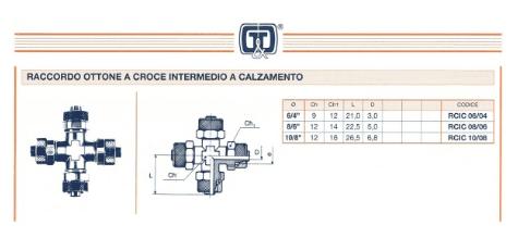 RACCORDO OTTONE A L A CALZAMENTO INTERMEDIO