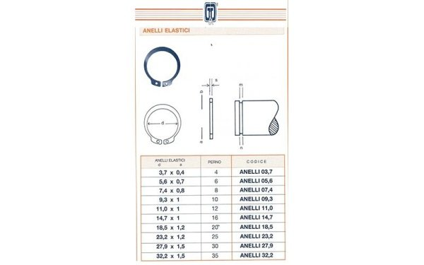 anelli elastici scheda