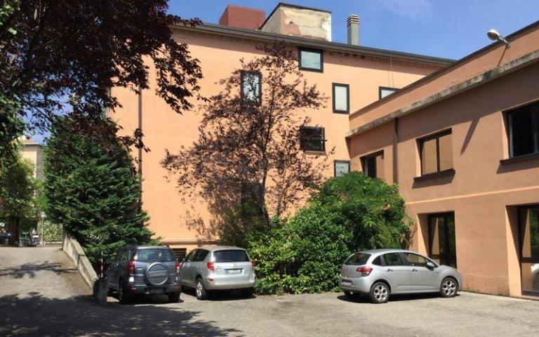 Il parcheggio dello Studio Landuzzi
