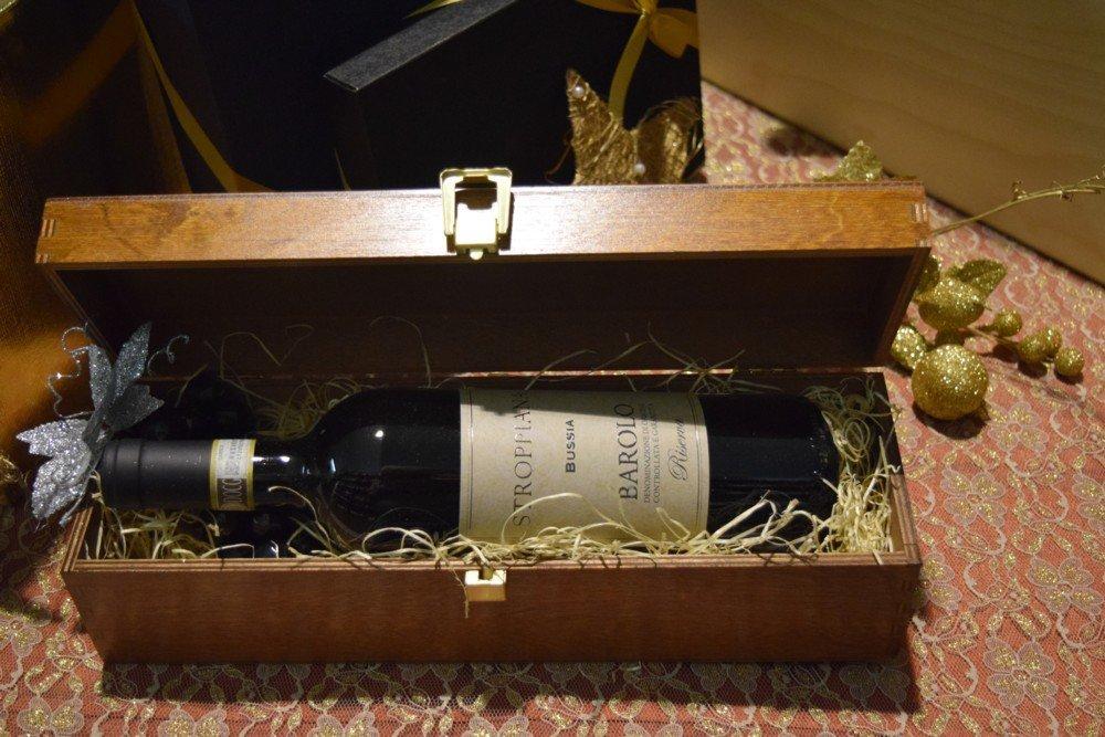 Cofanetto legno bottiglia Barolo Riserva