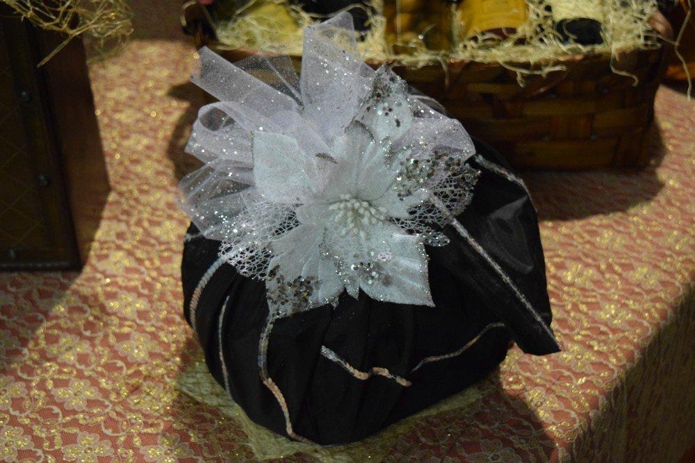 Panettone foulard nero