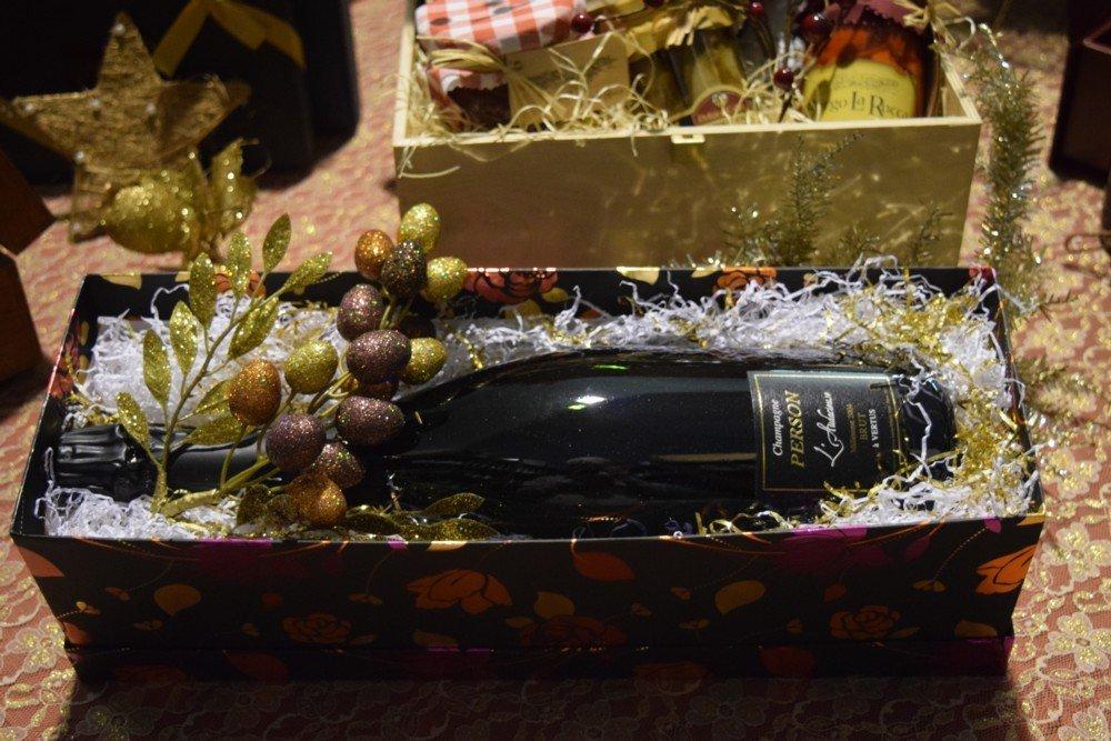 Scatola a fiori bottiglia Magnum Champagne