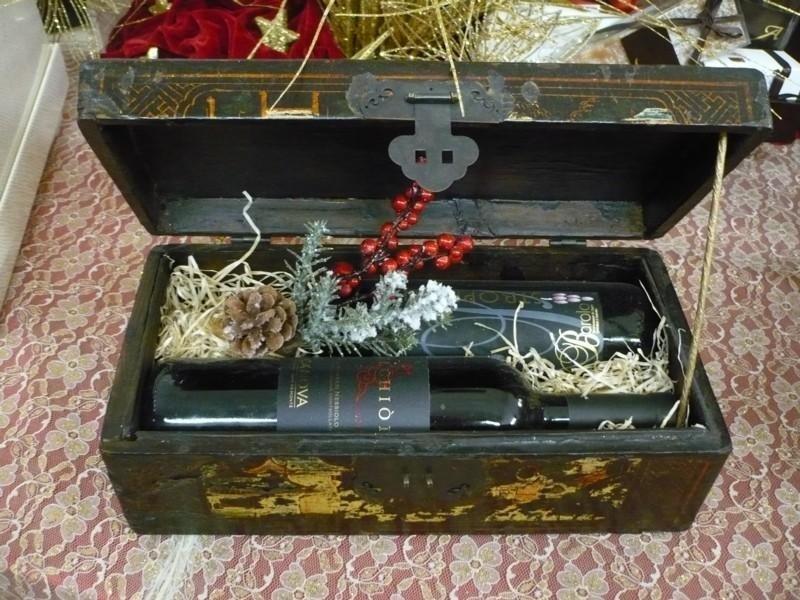 Bauletto legno orientale 2 bottiglie