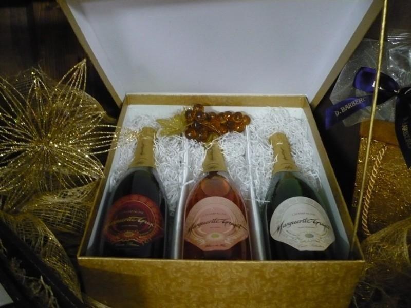 Scatola enoteca 3 Champagne Marguerite Guyot