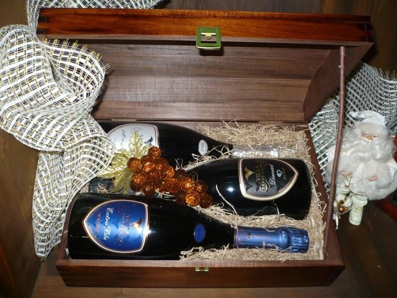 Cofanetto legno 3 bottiglie Franciacorta