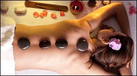 massaggio con pietre