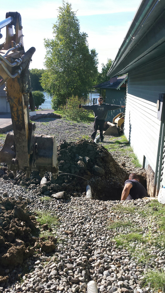 Excavation work in progress in  Anchorage, AK