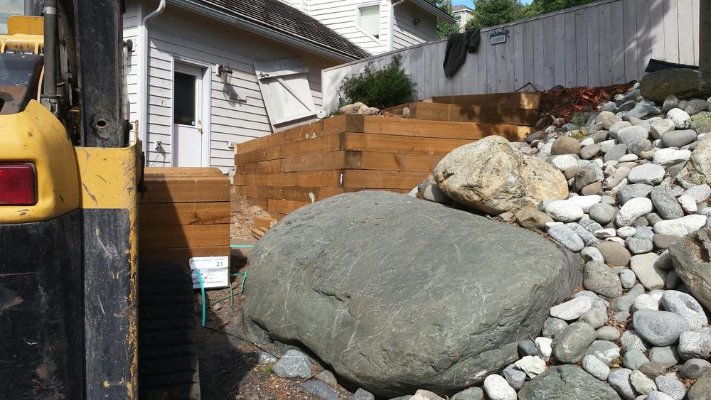 Excavation work in progress in  Anchorage, AK