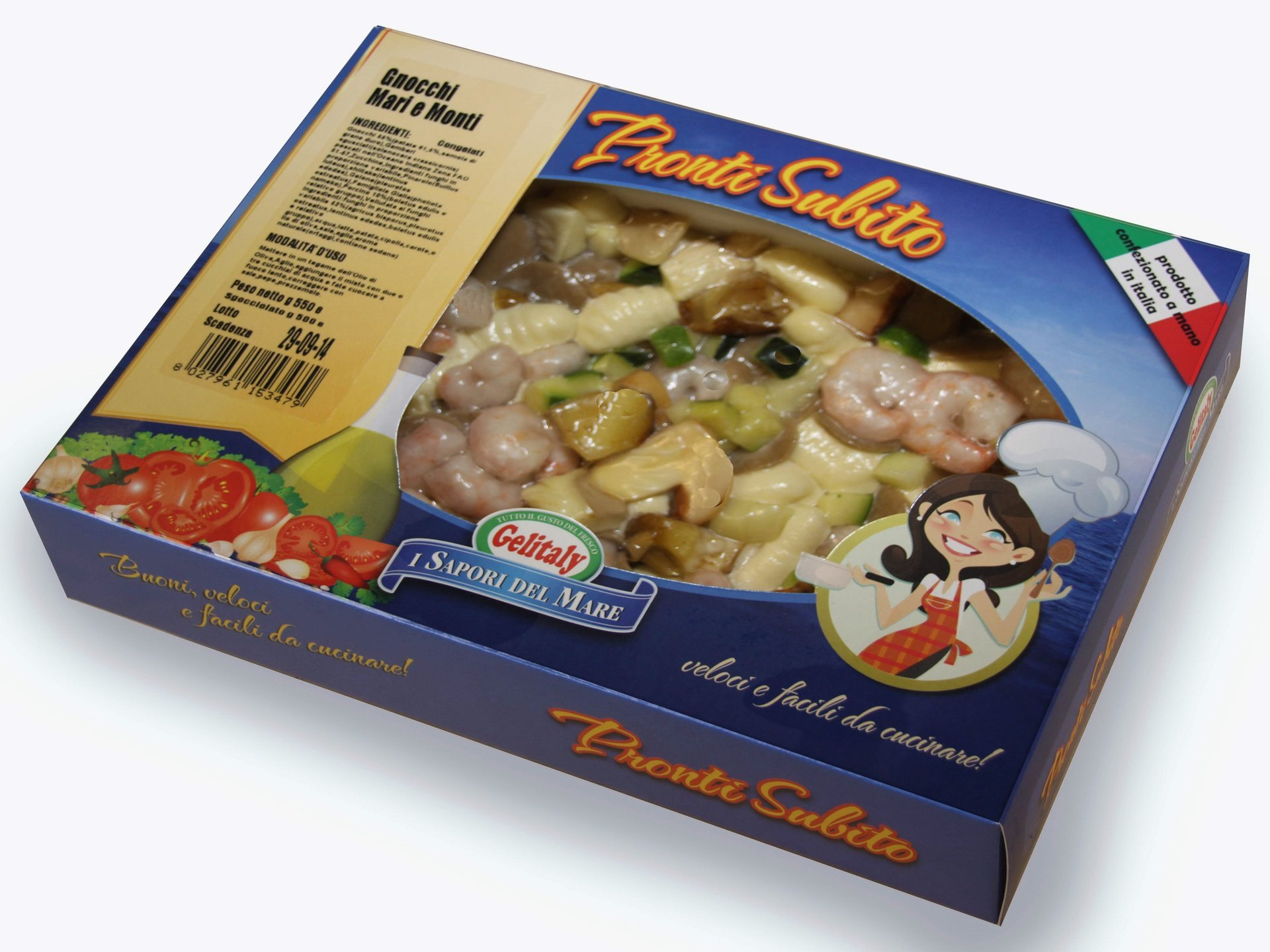 scatola di pesce surgelato