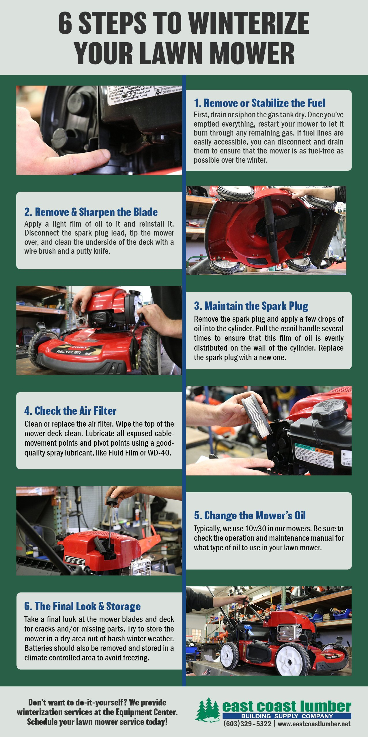 You Can Always Bring Your Lawn Mower Into East Coast Lumber We Provide Winterization Services In Our Equipment Center Take Good Care Of So