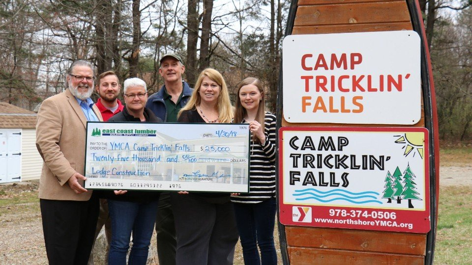 East Coast Lumber S Donation Will Support The Ymca Of North Initiative To Provide Memories Last A Lifetime Through Summer Camp