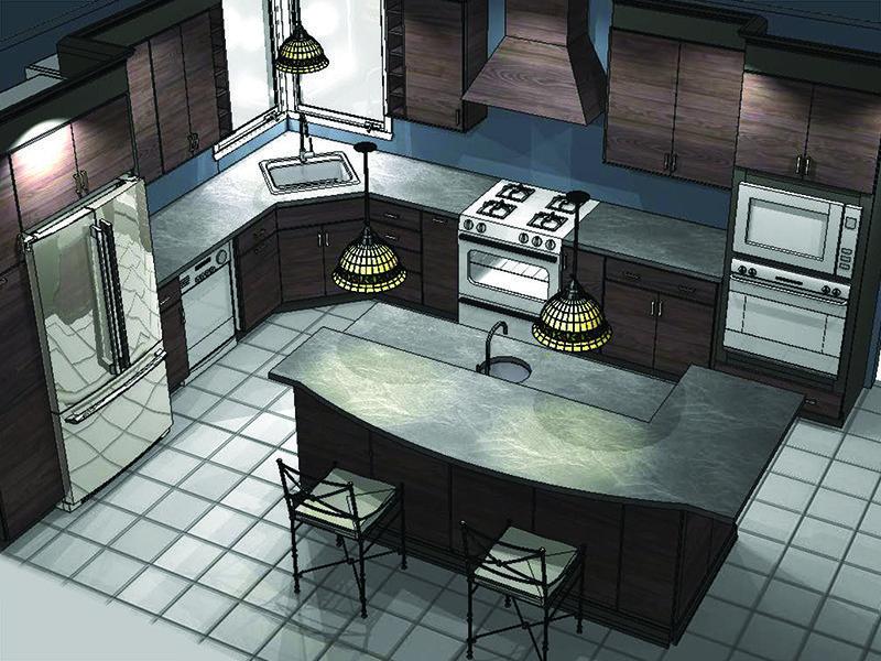 Kemper Cabinets | Door Style: Troxel | Finish: Obsidian Storm