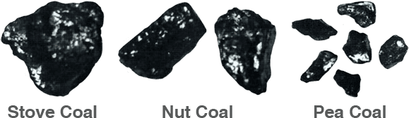 Stove, Nut and Pea Coal Sizes