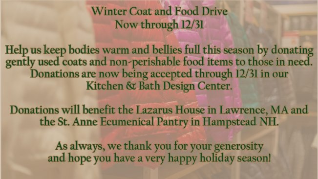 Donate Your Gently Used Winter Clothing!