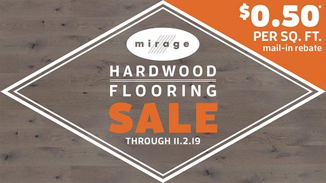$0.50 Rebate on Mirage Flooring!