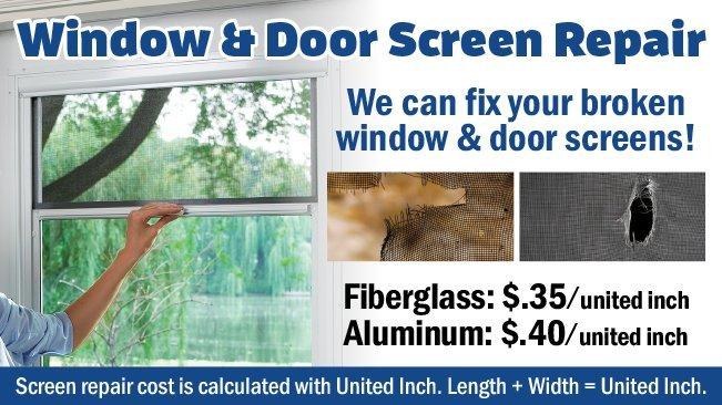 We Repair Broken Window & Door Screens!