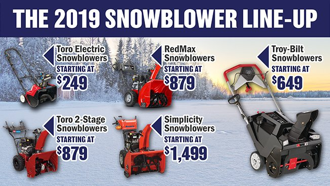 The 2017 Snowblower Line-Up is Here!