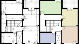 topografia, planimetria, casa