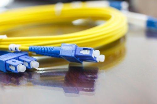 Cavo da fibra ottica per le comunicazioni ad alta velocità.
