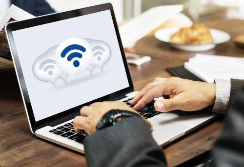 Connessione internet su un computer