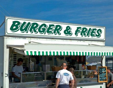 a burger stand