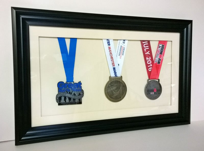 medals and prizes framed