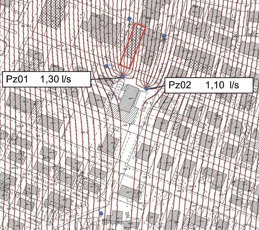 Mappa con linee rosa