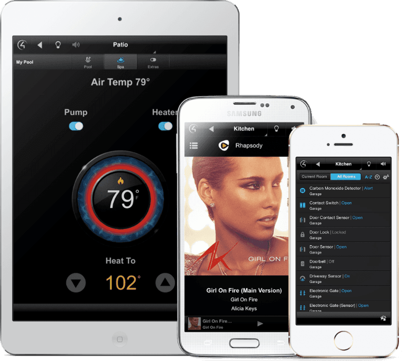 Control your home from tablet, mobile and laptop