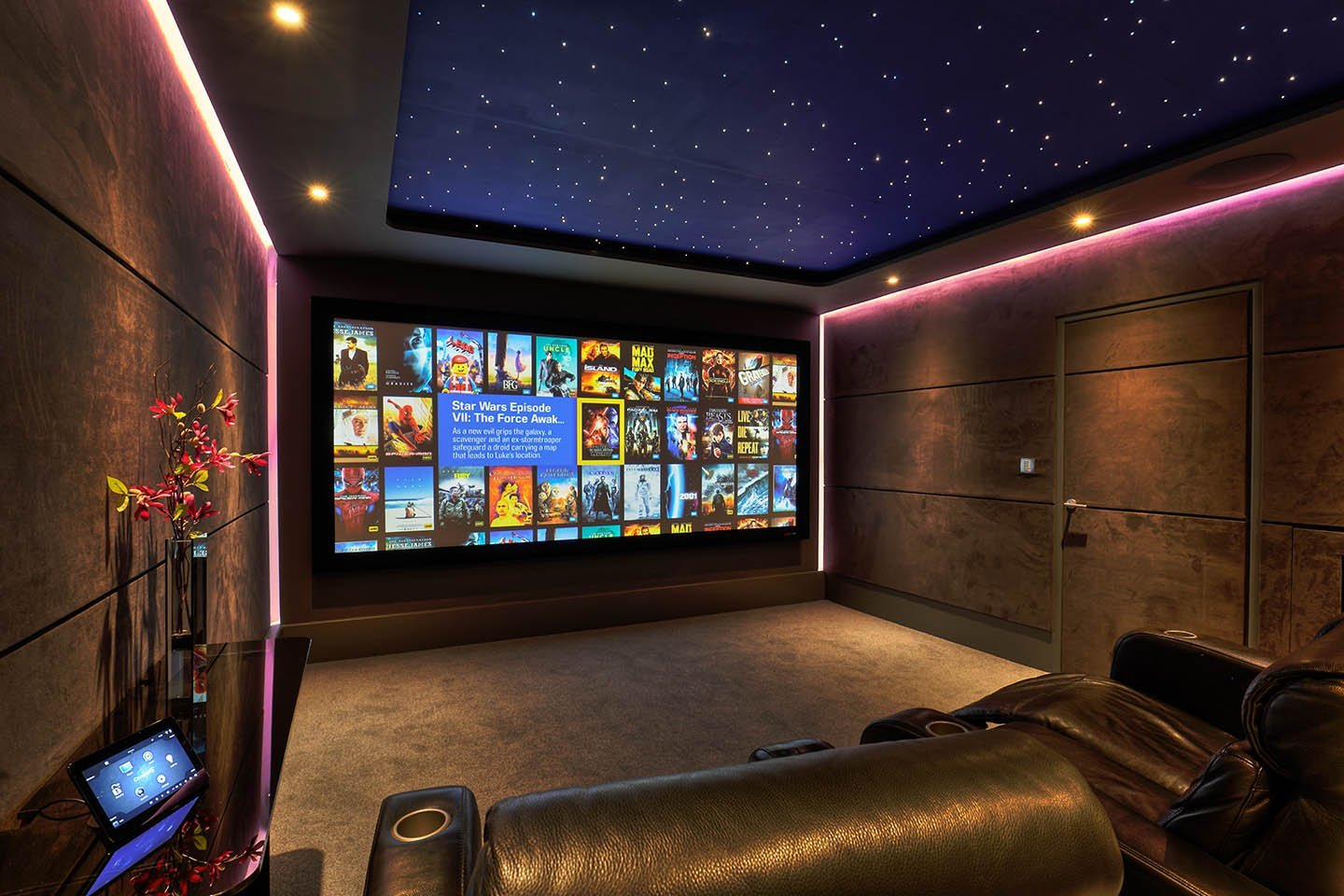 Wide view of Kaleidescape at New Wave AV Home Cinema Demonstration