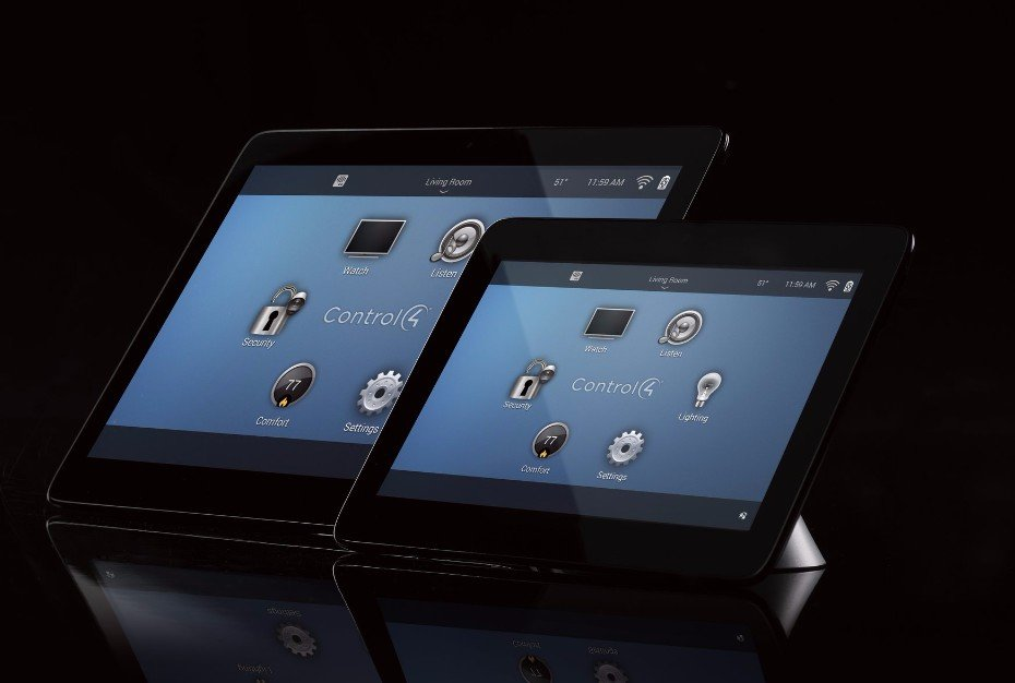 Control4 glass edge touchscreen