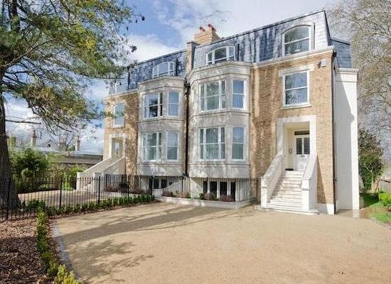 Outside view of a London town house