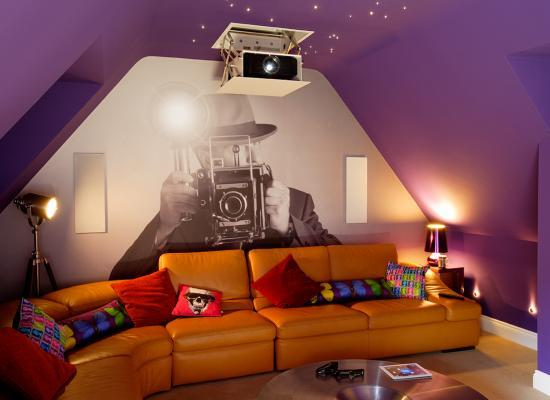 loft conversion home cinema. Black Bedroom Furniture Sets. Home Design Ideas