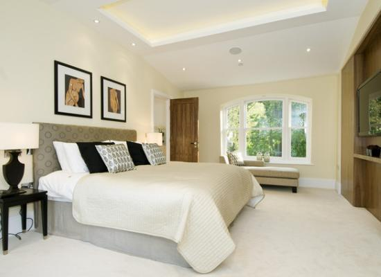 Master bedroom of London property