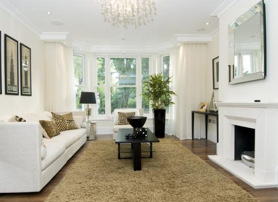 Living room of London town home