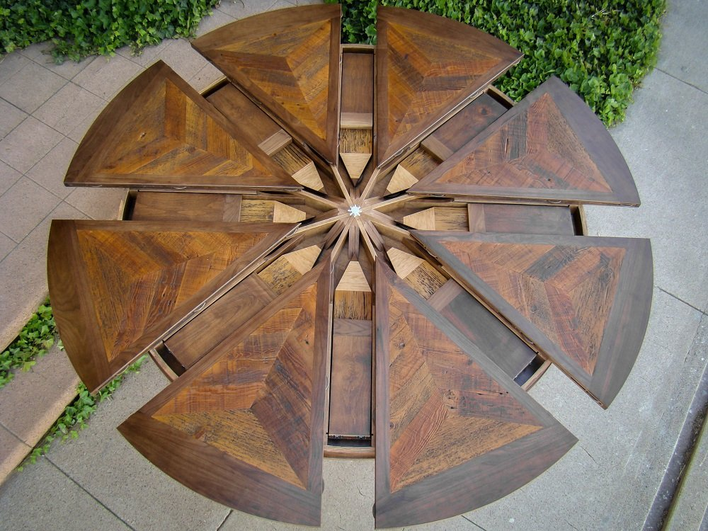 Circle Table That Expands Home Decoration
