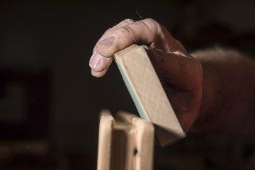 reclaimed barn wood sanding