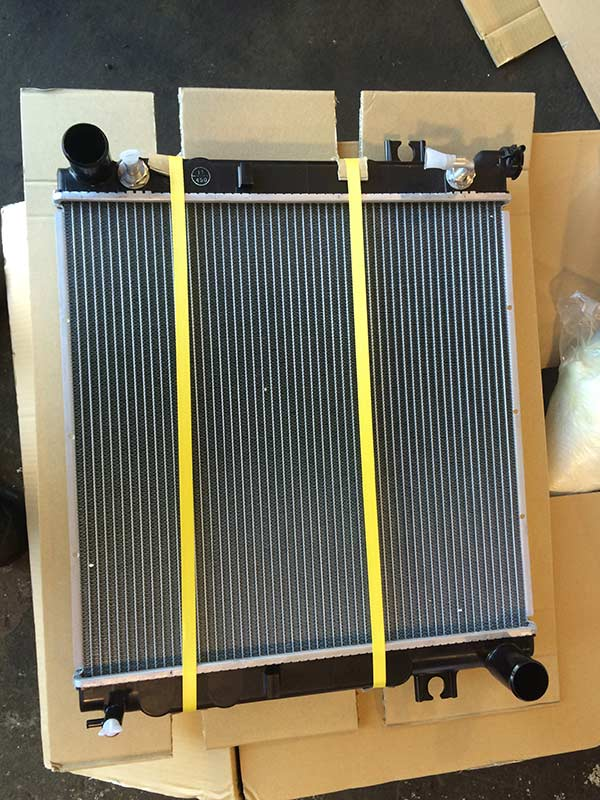 View of the radiator after repair