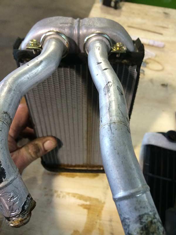 Repaired automobile radiator
