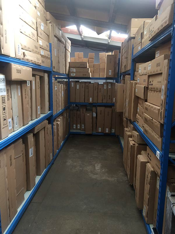 View of a huge inventory