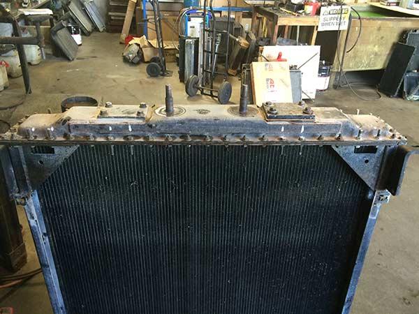 Radiator before repair