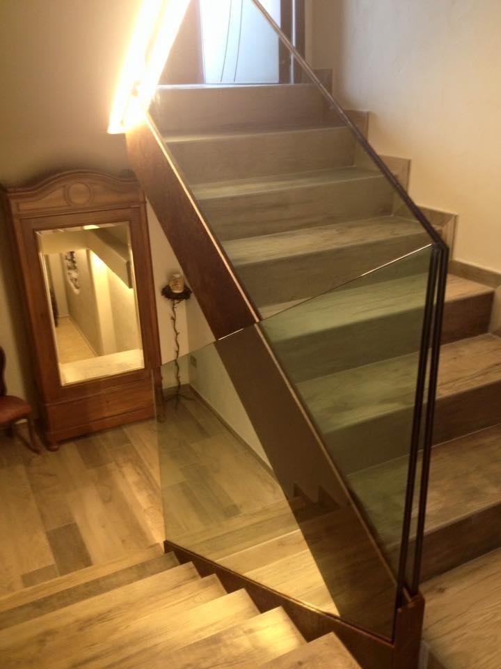 supports en verre pour les escaliers