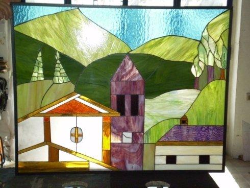 nous produisons des vitres et des vitraux artistiques à la demande