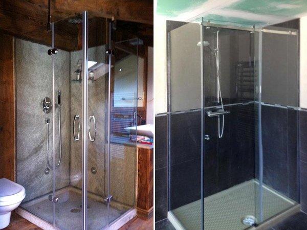 cabines de douche en cristal