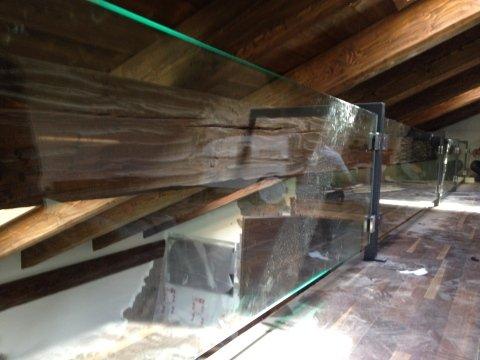Parapetto in vetro temperato 10 mm