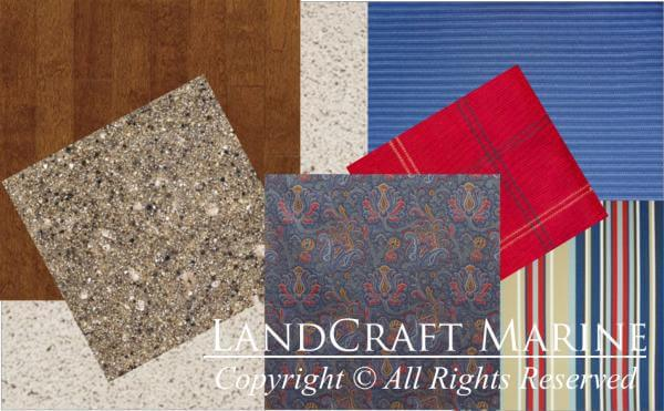 LandCraft Marine boat interior swatches 1
