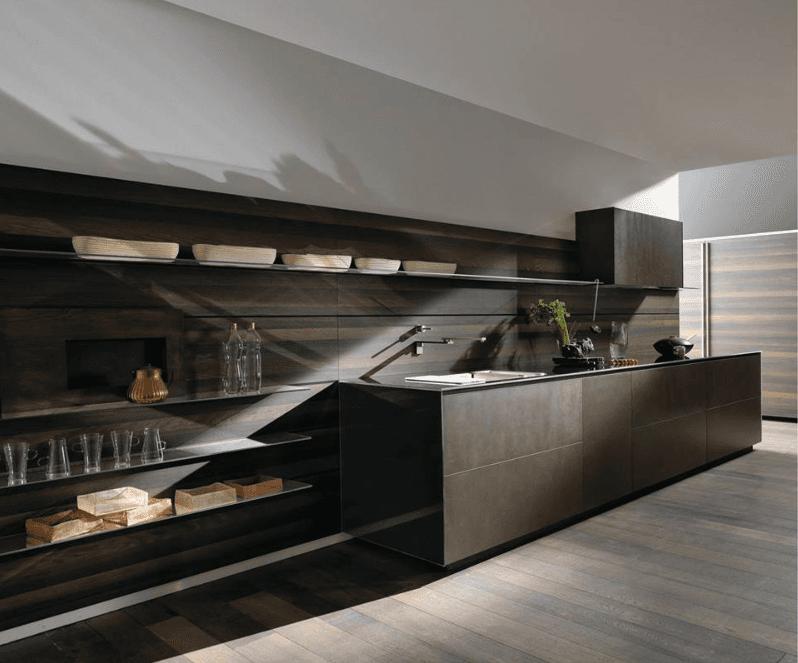 cucina marrone
