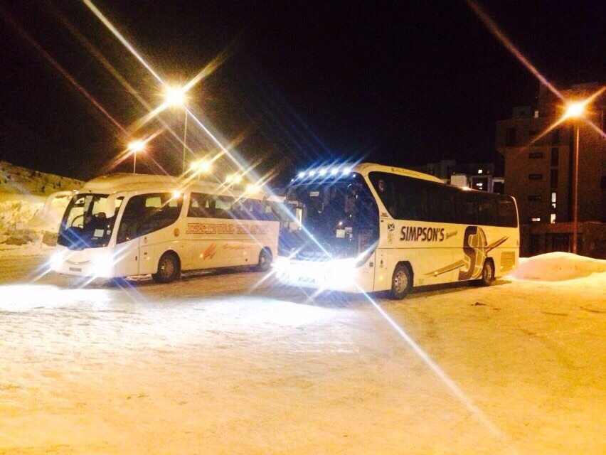 Coach for airport transfer