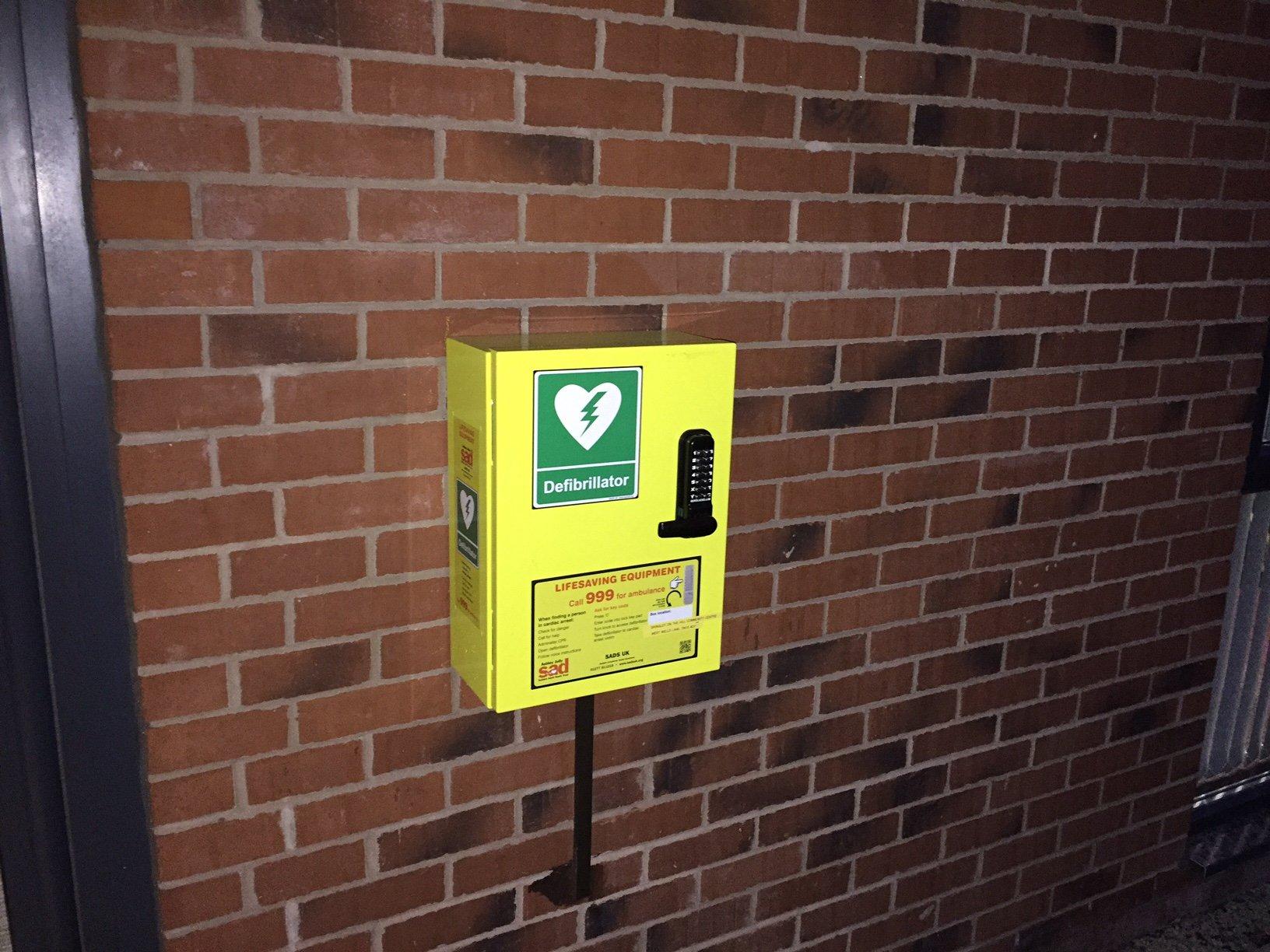 Public Access Defibrillator outside the Gringley Community Centre