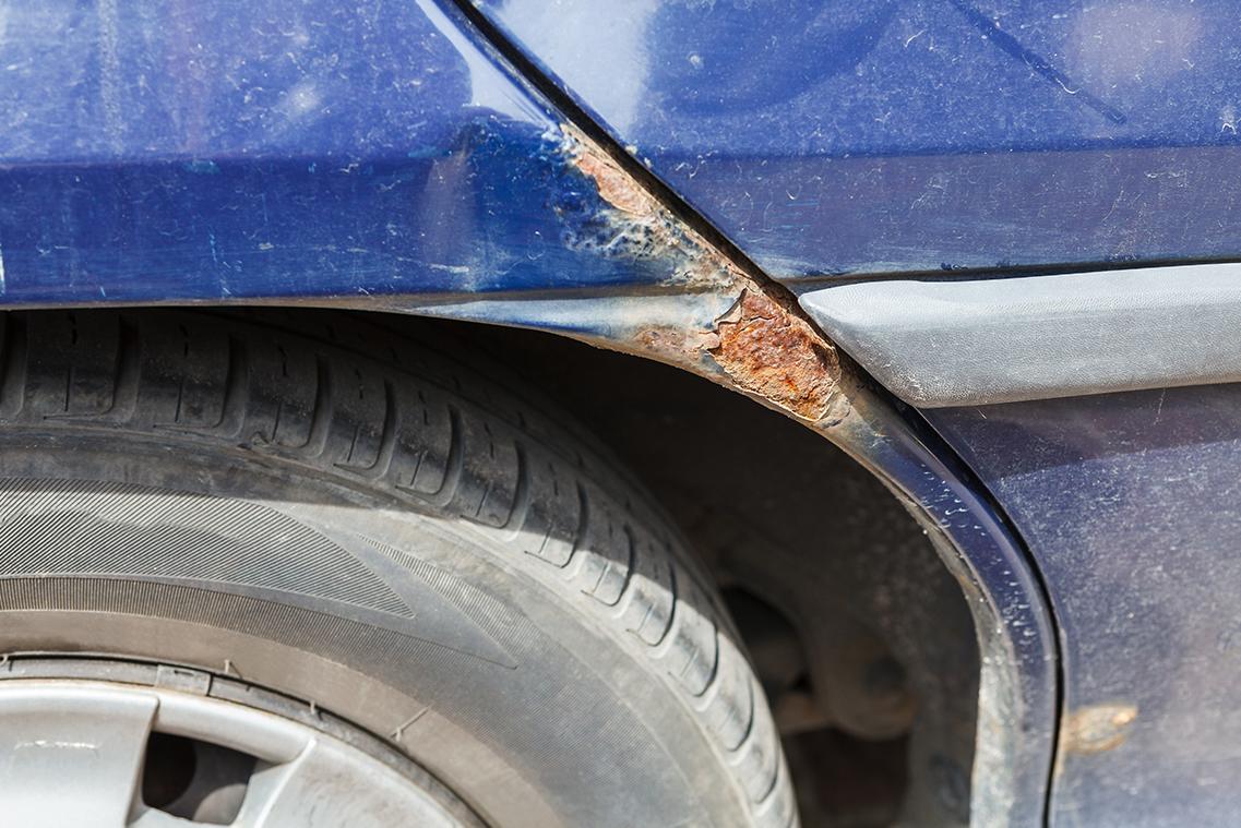 Rust on the car fender